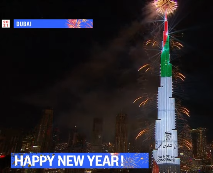 Dubai New Years Fireworks